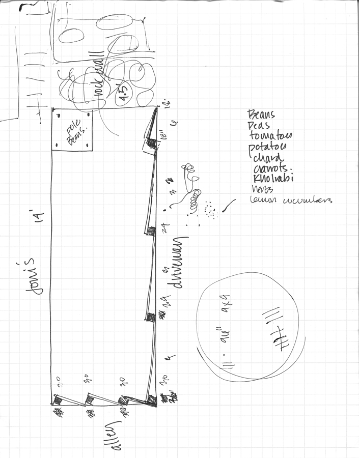 My garden plan